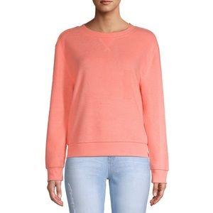 No Boundaries Peach Crewneck Fleece Sweatshirt